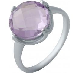 Серебряное кольцо SilverBreeze с натуральным аметистом (2042990) 18.5 размер
