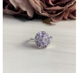 Серебряное кольцо SilverBreeze с натуральным аметистом (2043133) 17 размер