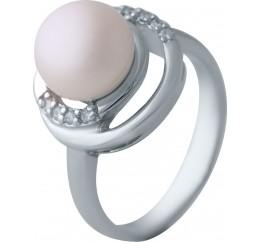 Серебряное кольцо SilverBreeze с натуральным жемчугом (2041283) 17 размер