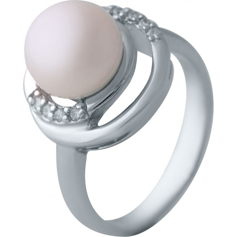 Серебряное кольцо SilverBreeze с натуральным жемчугом (2041283) 18 размер
