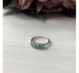 Серебряное кольцо SilverBreeze с натуральным изумрудом (2043409) 17.5 размер
