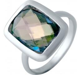 Серебряное кольцо SilverBreeze с натуральным мистик топазом (2043478) 17.5 размер
