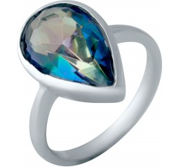Серебряное кольцо SilverBreeze с натуральным мистик топазом (2043508) 18 размер