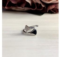 Серебряное кольцо SilverBreeze с натуральным ониксом (2038474) 17 размер