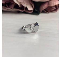 Серебряное кольцо SilverBreeze с натуральным перламутром (2037965) 18.5 размер