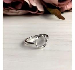 Серебряное кольцо SilverBreeze с натуральным перламутром (2038825) 18 размер