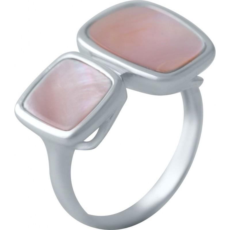 Серебряное кольцо SilverBreeze с натуральным перламутром (2041832) 17.5 размер