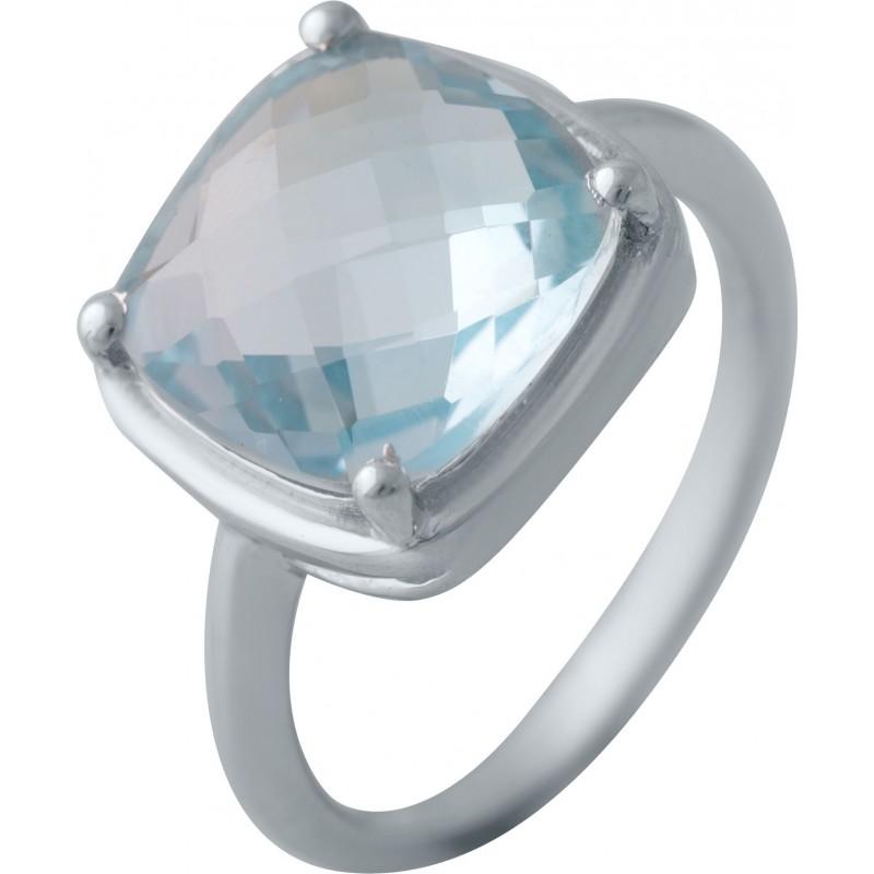 Серебряное кольцо SilverBreeze с натуральным топазом (2042426) 17 размер