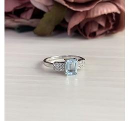 Серебряное кольцо SilverBreeze с натуральным топазом (2042693) 17.5 размер