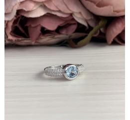 Серебряное кольцо SilverBreeze с натуральным топазом (2042716) 17 размер
