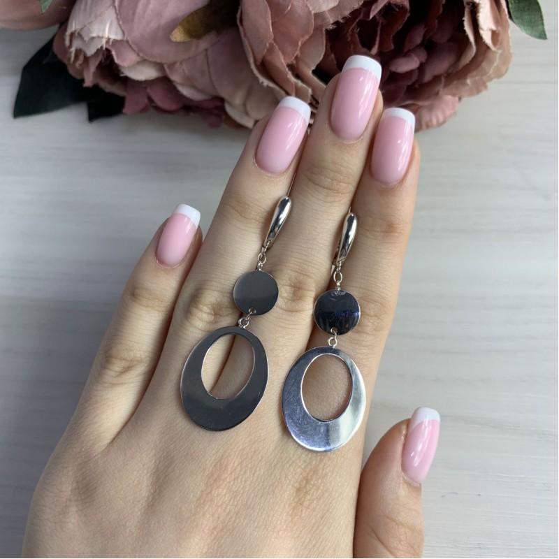 Серебряные серьги SilverBreeze без камней (2044895)
