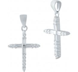 Серебряный крестик SilverBreeze с фианитами (2044871)