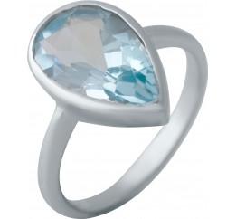 Серебряное кольцо SilverBreeze с натуральным топазом (2043942) 18 размер
