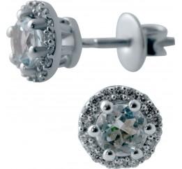Серебряные серьги SilverBreeze с натуральным топазом (2043775)