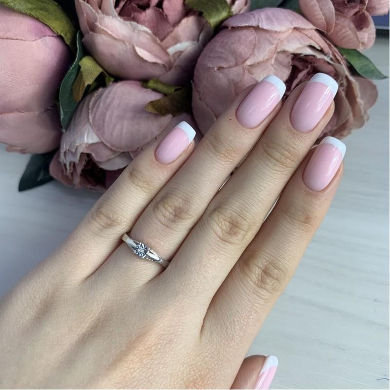 Серебряное кольцо SilverBreeze с натуральными бриллиантом (2043768) 16 размер