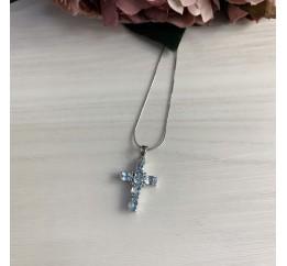Серебряный крестик SilverBreeze с топазом (2043591)