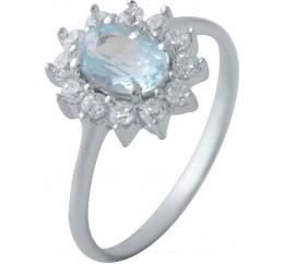 Серебряное кольцо SilverBreeze с натуральным топазом (2042969) 17 размер