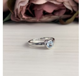 Серебряное кольцо SilverBreeze с натуральным топазом (2042938) 18 размер