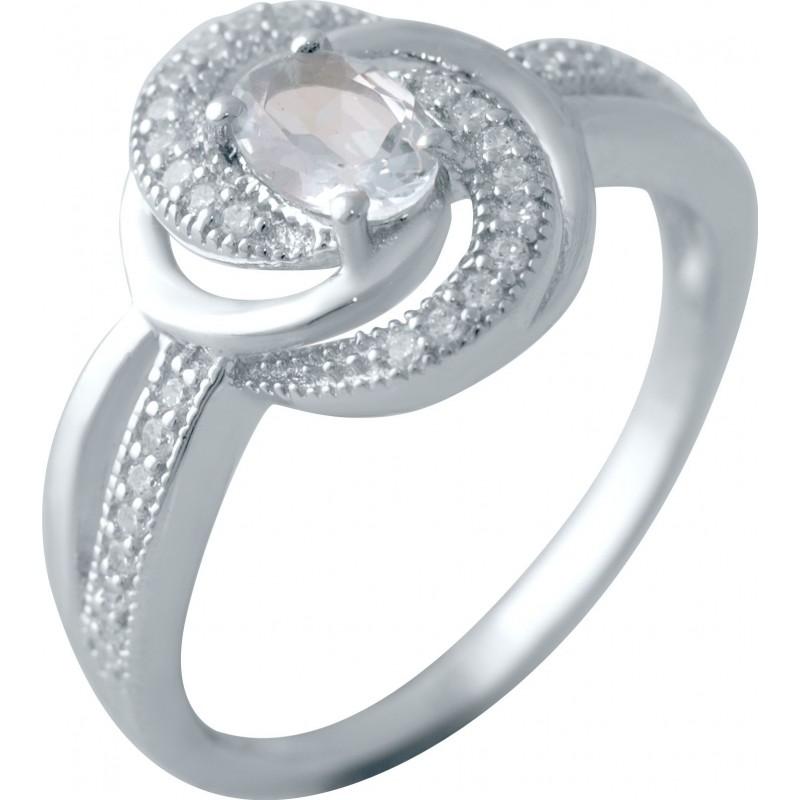 Серебряное кольцо SilverBreeze с натуральным топазом (2042884) 17.5 размер