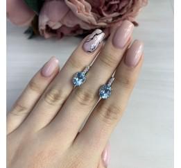 Серебряные серьги SilverBreeze с натуральным топазом (2042815)