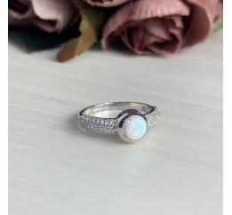 Серебряное кольцо SilverBreeze с опалом (2040774) 16.5 размер