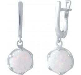 Серебряные серьги SilverBreeze с опалом (2040743)