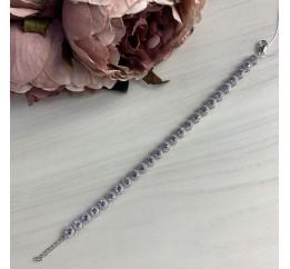 Серебряный браслет SilverBreeze с натуральным аметистом (2040569) 1820 размер