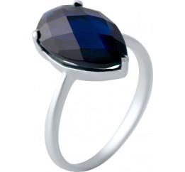 Серебряное кольцо SilverBreeze с сапфиром nano (2040477) 17 размер