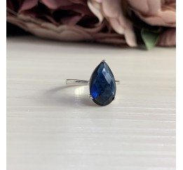 Серебряное кольцо SilverBreeze с сапфиром nano (2040477) 17.5 размер