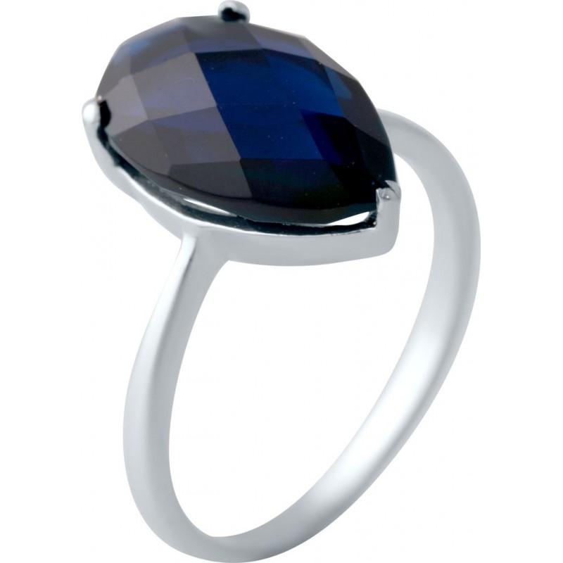 Серебряное кольцо SilverBreeze с сапфиром nano (2040477) 18.5 размер
