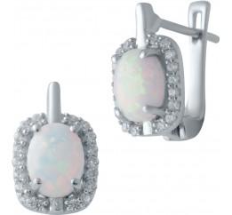 Серебряные серьги SilverBreeze с опалом (2040361)