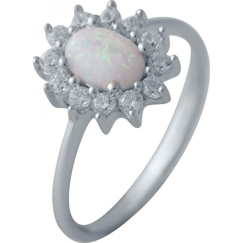 Серебряное кольцо SilverBreeze с опалом (2040200) 17 размер