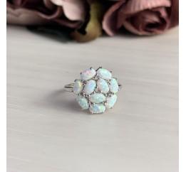 Серебряное кольцо SilverBreeze с опалом (2040125) 17.5 размер