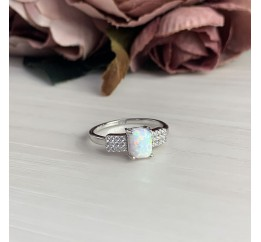 Серебряное кольцо SilverBreeze с опалом (2040026) 16.5 размер