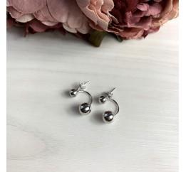 Серебряные серьги SilverBreeze без камней (2038733)