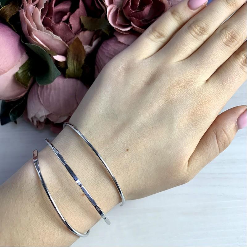 Серебряный браслет SilverBreeze без камней (2038597) Регулируемый размер