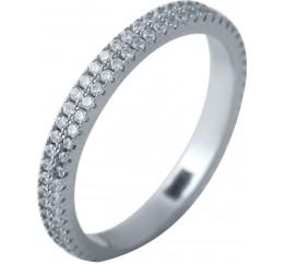 Серебряное кольцо SilverBreeze с фианитами (2038450) 16 размер