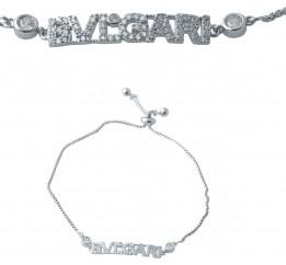 Серебряный браслет SilverBreeze с фианитами (2038375) Регулируемый размер