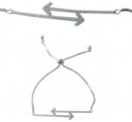 Серебряный браслет SilverBreeze с фианитами (2038290) Регулируемый размер