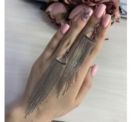 Серебряные серьги SilverBreeze без камней (2037958)