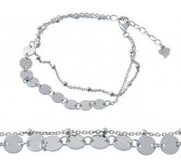 Серебряный браслет SilverBreeze без камней (2037156) 1720 размер