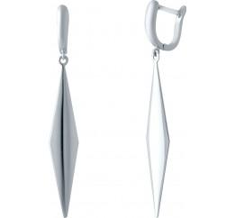 Серебряные серьги SilverBreeze без камней (2037132)