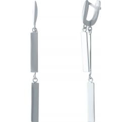 Серебряные серьги SilverBreeze без камней (2037118)