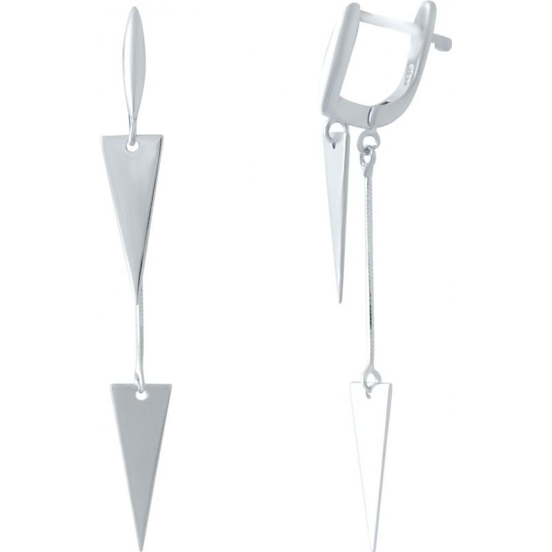 Серебряные серьги SilverBreeze без камней (2037040)
