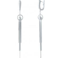 Серебряные серьги SilverBreeze без камней (2037033)