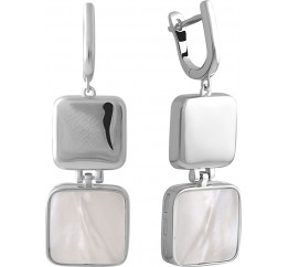 Серебряные серьги SilverBreeze с натуральным ониксом (2044475)