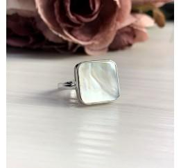 Серебряное кольцо SilverBreeze с натуральным ониксом (2044505) 17 размер