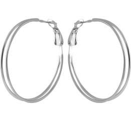 Серебряные серьги SilverBreeze с натуральным жемчугом барочным (2044666)