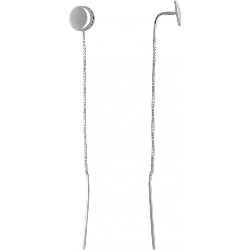 Серебряные серьги SilverBreeze без камней (2046738)