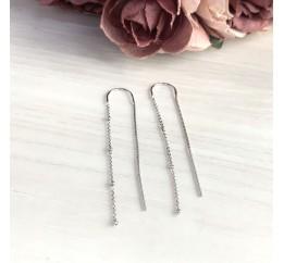 Серебряные серьги SilverBreeze без камней (2046752)